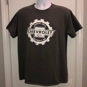 🏵Men's Large Tee Vintage look Chevy Logo Gray